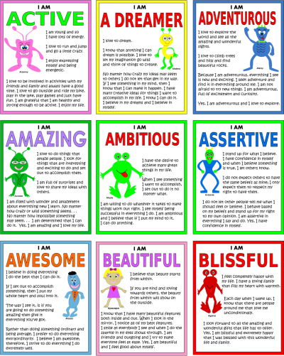 I Am Positive Printable Stickers
