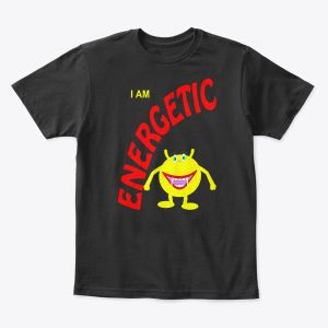 I Am Energetic Toddler - Youth T-Shirt Black