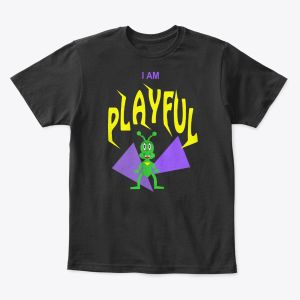 I Am Playful Toddler - Youth T-Shirt Black
