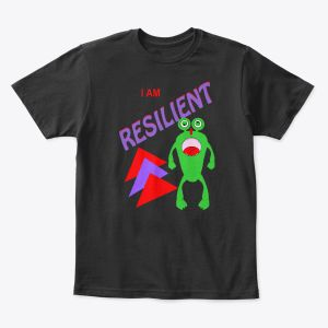 I Am Resilient Toddler - Youth T-Shirt Black