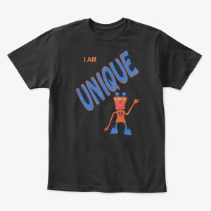 I Am Unique Toddler - Youth T-Shirt Black