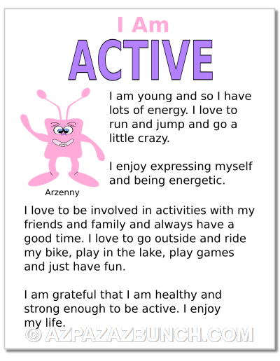 I Am Active Poster