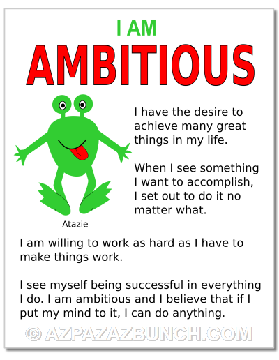 I Am Ambitious Poster