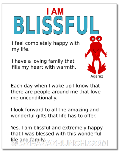 I Am Blissful Poster