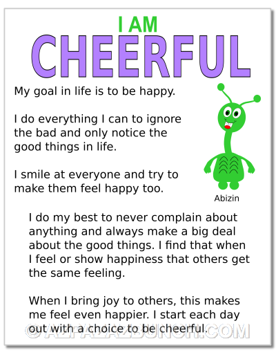 I Am Cheerful Poster