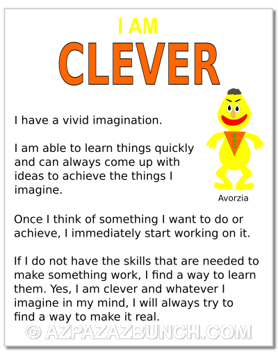 I Am Clever Poster