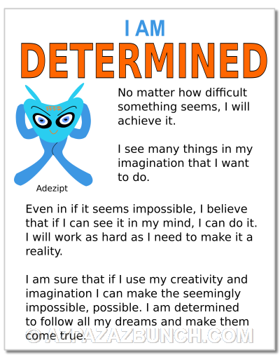 I Am Determined Poster