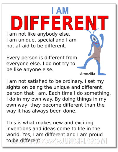 I Am Different Poster
