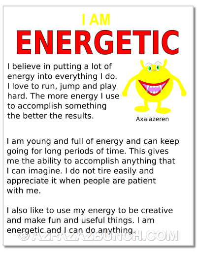 I Am Energetic Poster