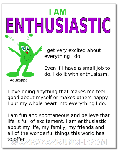 I Am Enthusiastic Poster