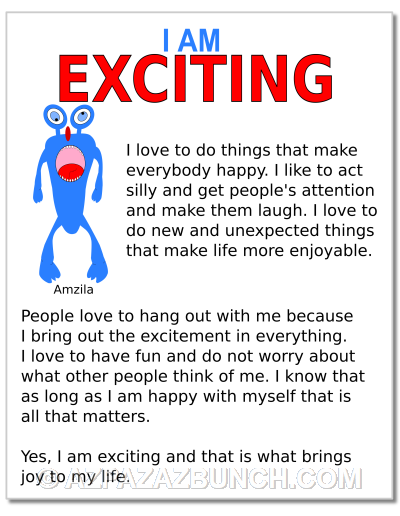 I Am Exciting Poster