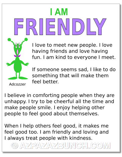 I Am Friendly Poster