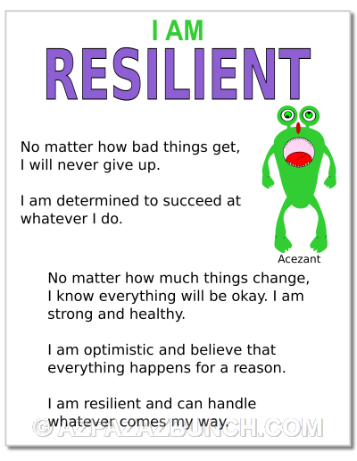 I Am Resilient Poster