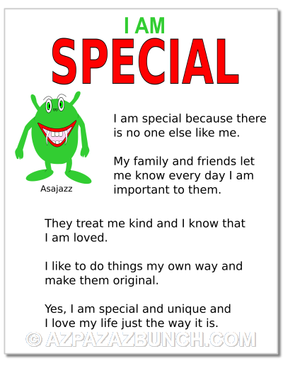 I Am Special Poster