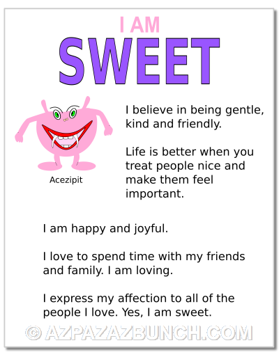 I Am Sweet Poster