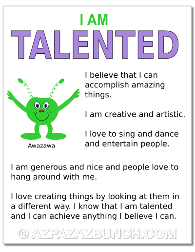 I Am Talented Poster