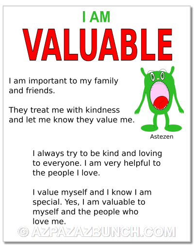 I Am Valuable Poster