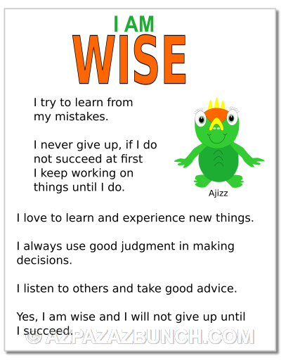 I Am Wise Poster